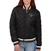 G-III for Her Women's New Orleans Saints Goal Line Full-Zip Bomber Jacket