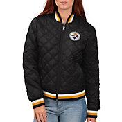 G-III for Her Women's Pittsburgh Steelers Goal Line Full-Zip Bomber Jacket