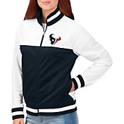 G-III for Her Women's Houston Texans Faceoff Rhinestone Full-Zip Track Jacket