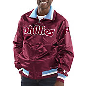 Starter Men's Philadelphia Phillies Button Down Jacket