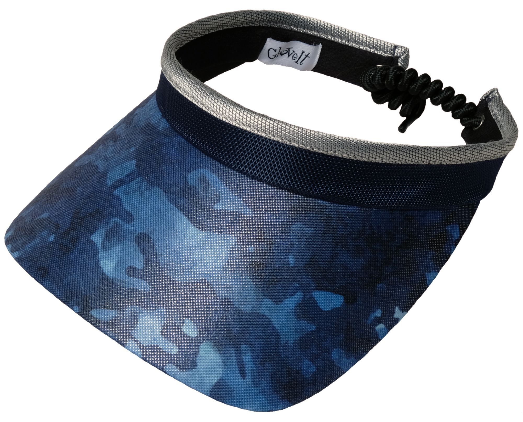Glove It Women's Printed Coil Golf Visor, Size: One size, Blue thumbnail