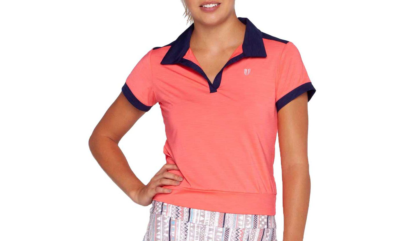 EleVen Women's Waistline Short Sleeve Tennis Polo