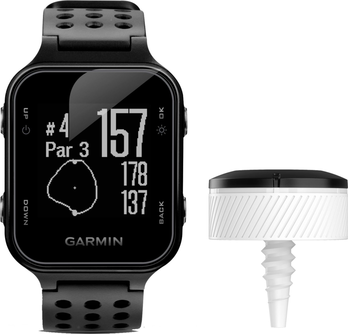 Garmin Approach S20 Golf GPS Watch with CT10 Club Tracking Sensors