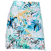 "EP Pro Women's 19"" Pull-On Watercolor Tropical Golf Skort"