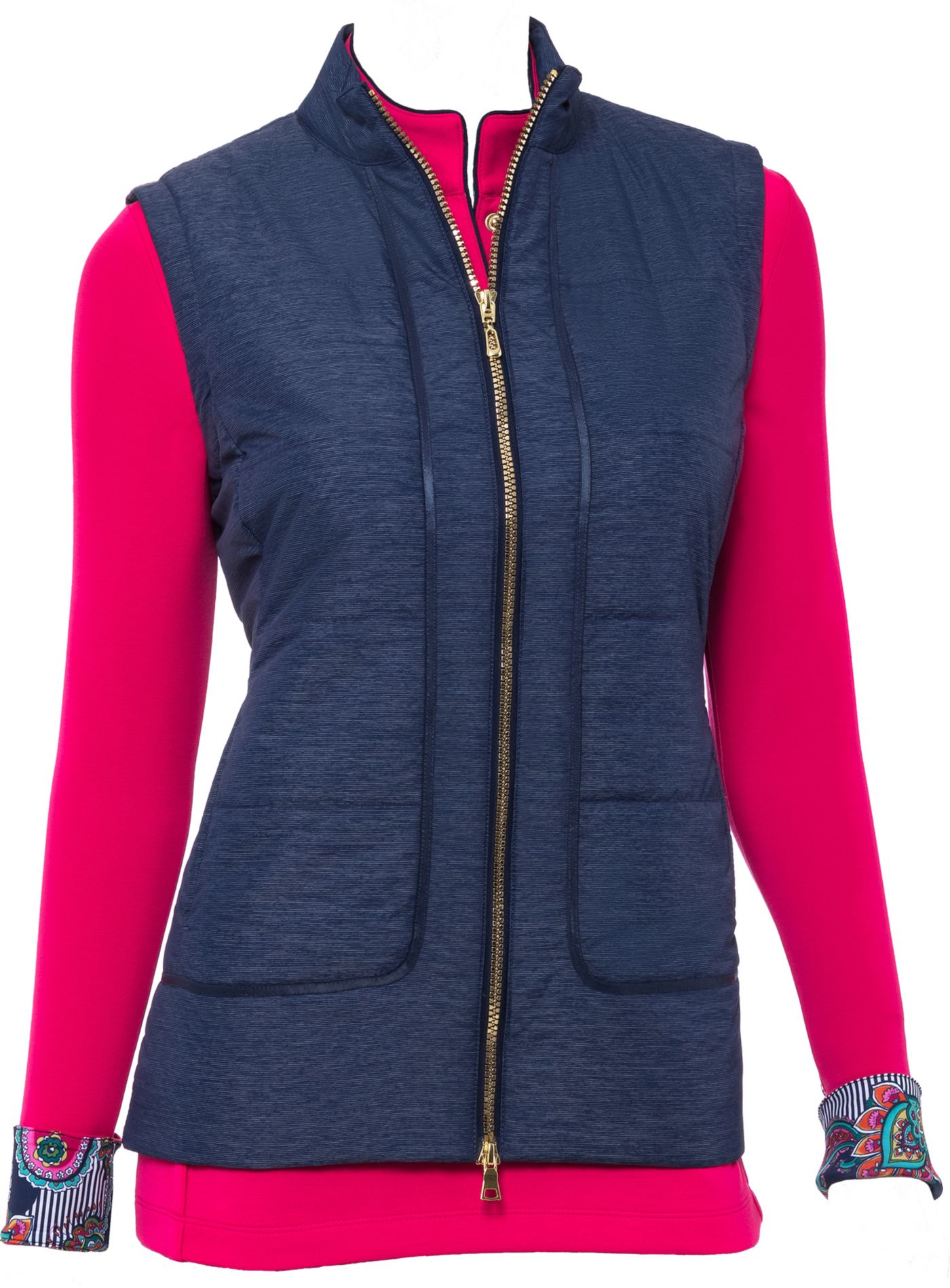 EP Pro Women's Quilt Ribbon Trim Golf Vest