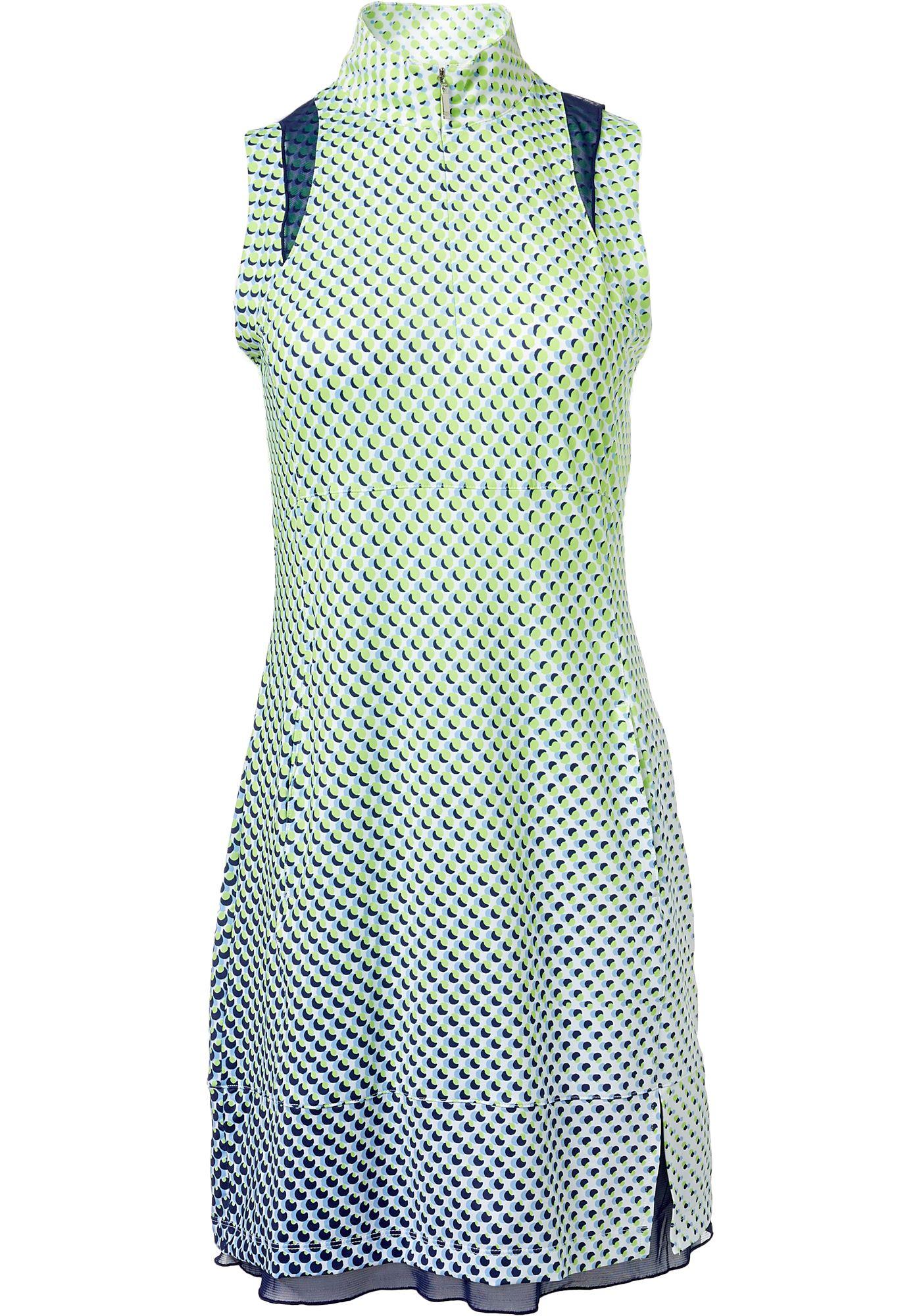 EP Pro Women's Sleeveless Gradated Dot Print Golf Dress