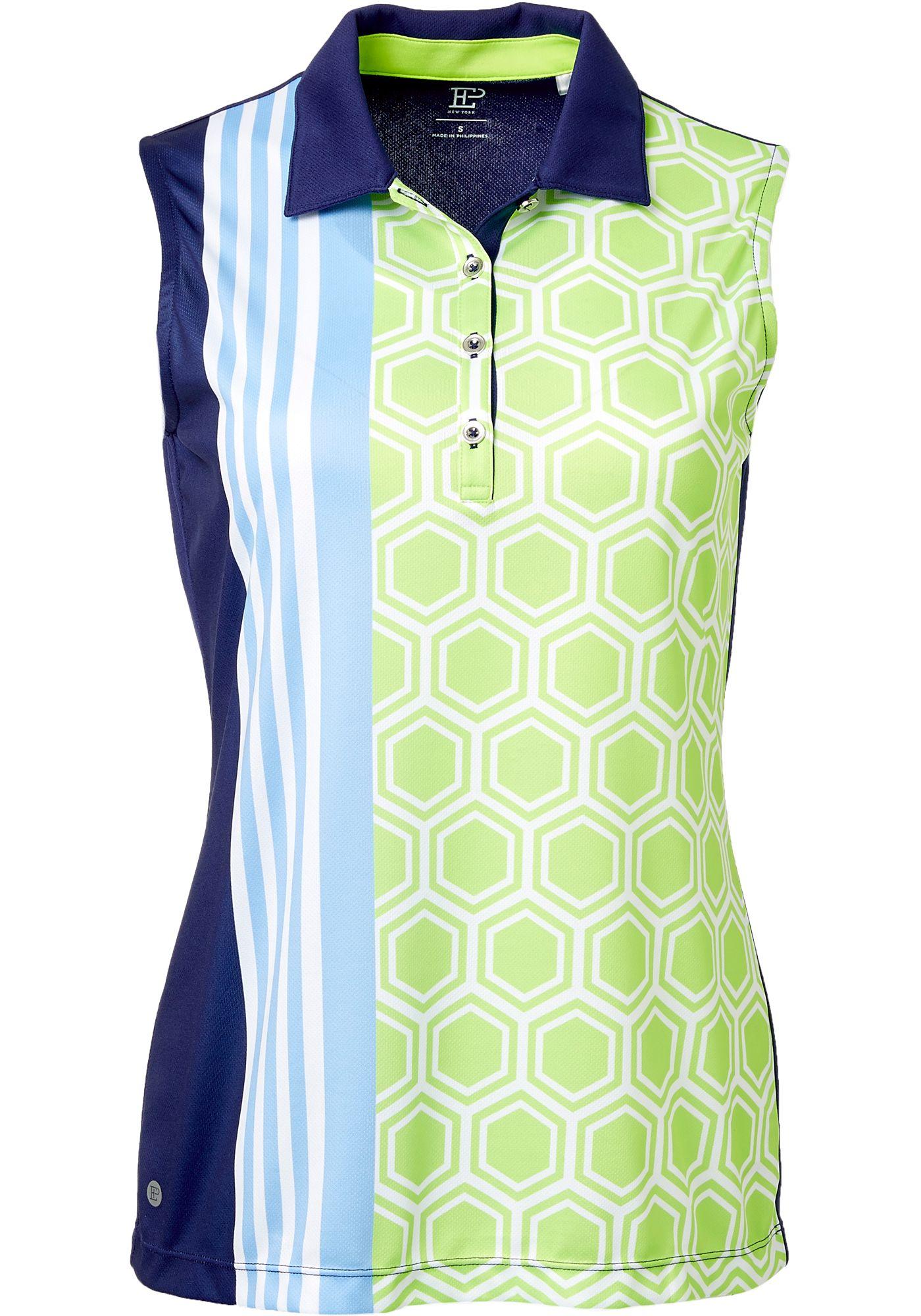 EP Pro Women's Sleeveless Geo Scarf Print Golf Polo