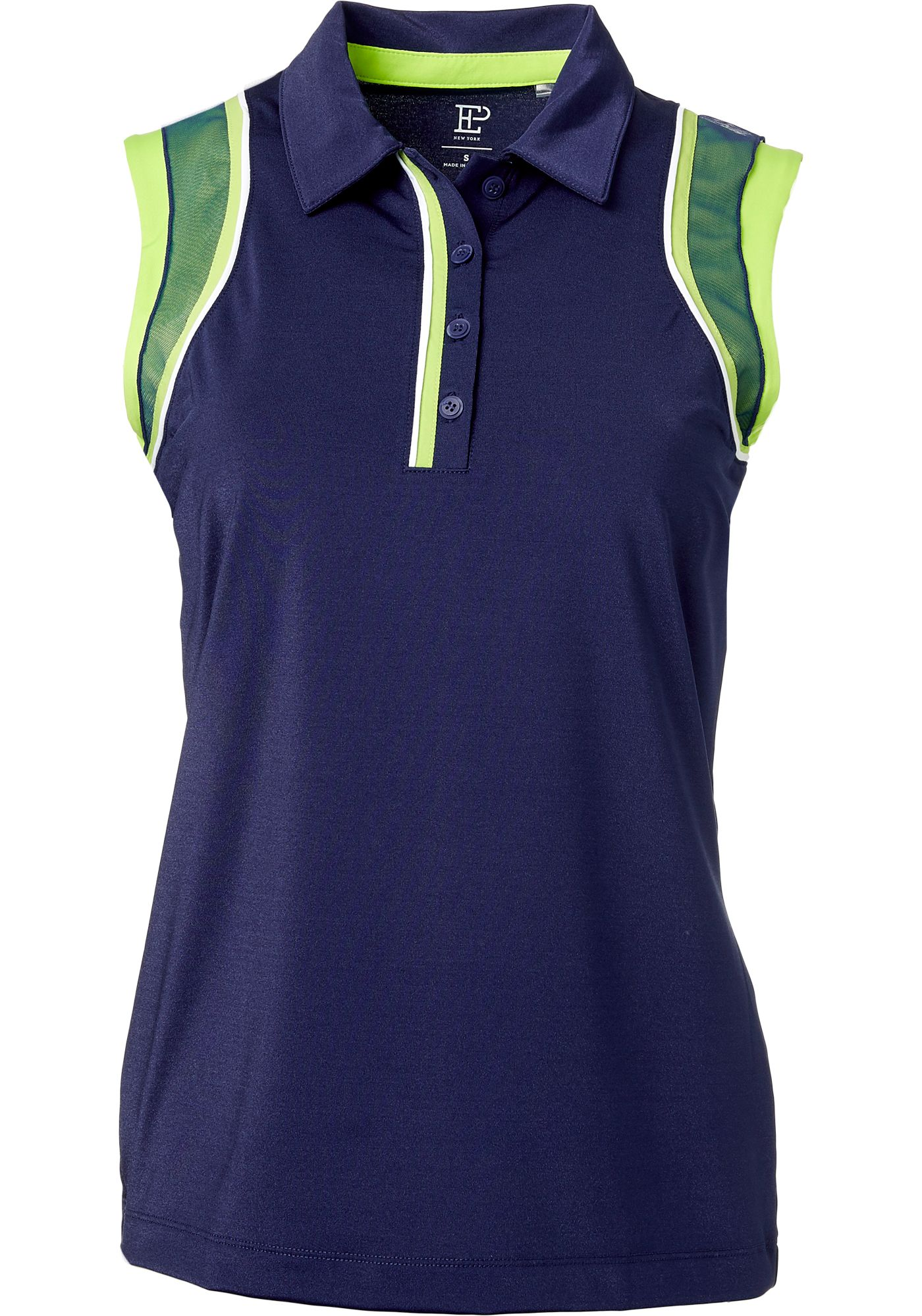 EP Pro Women's Sleeveless Shimmer Jersey Golf Polo