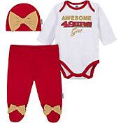 Gerber Infant Girls' San Francisco 49ers Onesie Footed Pants Set
