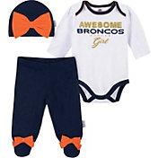 Gerber Infant Girls' Denver Broncos Onesie Footed Pants Set