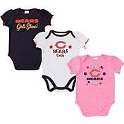 Gerber Infant Girls' Chicago Bears Onesie 3-Pack Bodysuit