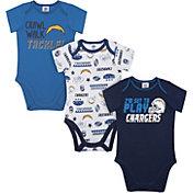 Gerber Infant Los Angeles Chargers Onesie 3-Pack Bodysuit