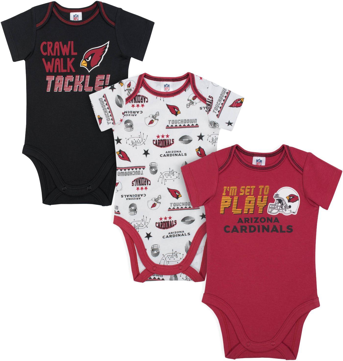 Gerber Infant Arizona Cardinals Onesie 3-Pack Bodysuit