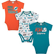 Gerber Infant Miami Dolphins Onesie 3-Pack Bodysuit