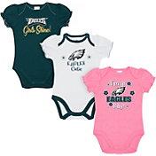 Gerber Infant Girls' Philadelphia Eagles Onesie 3-Pack Bodysuit
