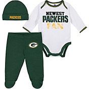 Gerber Infant Green Bay Packers Onesie Footed Pants Set