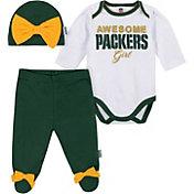 Gerber Infant Girls' Green Bay Packers Onesie Footed Pants Set