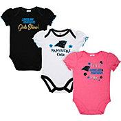 Gerber Infant Girls' Carolina Panthers Onesie 3-Pack Bodysuit
