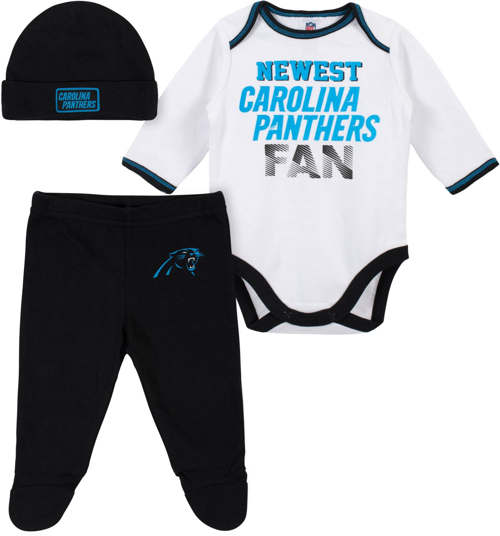 Gerber Infant Carolina Panthers Onesie Footed Pants Set