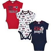 Gerber Infant New England Patriots Onesie 3-Pack Bodysuit