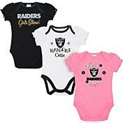 Gerber Infant Girls' Las Vegas Raiders Onesie 3-Pack Bodysuit