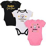 Gerber Infant Girls' Pittsburgh Steelers Onesie 3-Pack Bodysuit