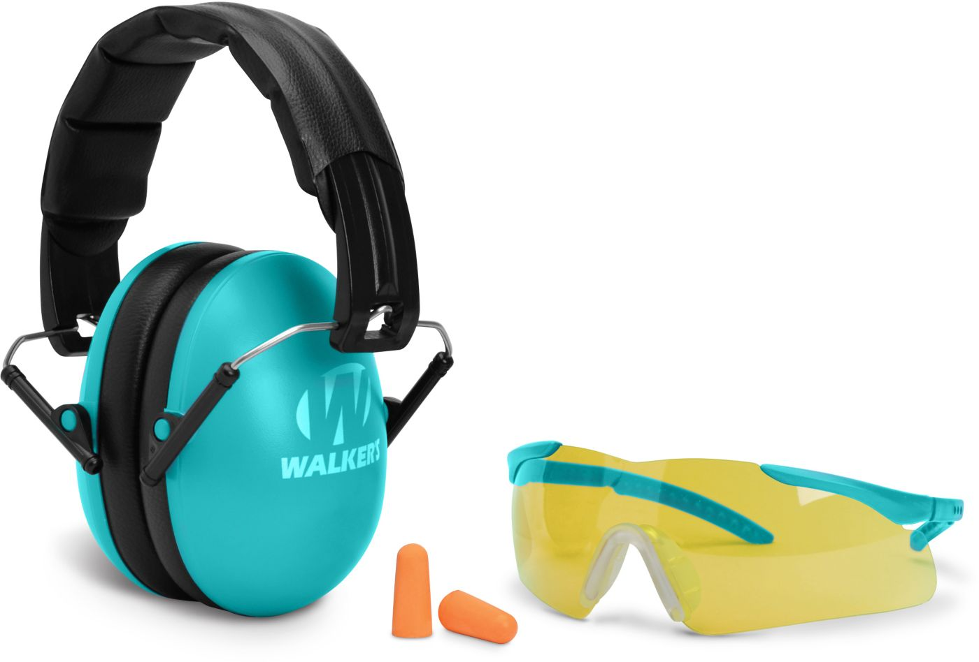 Walker's Youth & Women's Range Muffs and Sports Glasses Combo