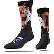 Strideline New York Mets Pete Alonso At Bat Black Crew Socks
