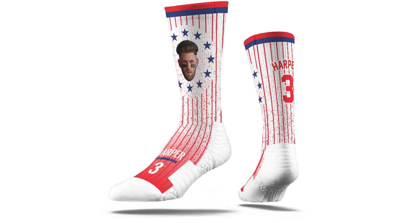 Strideline Philadelphia Phillies Bryce Harper Stars & Stripes Socks