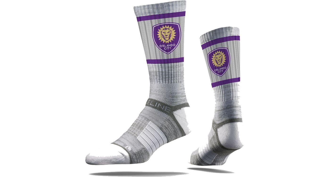 Strideline Orlando City Gray Crew Socks