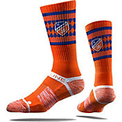 Strideline FC Cincinnati Orange Checkered Crew Socks
