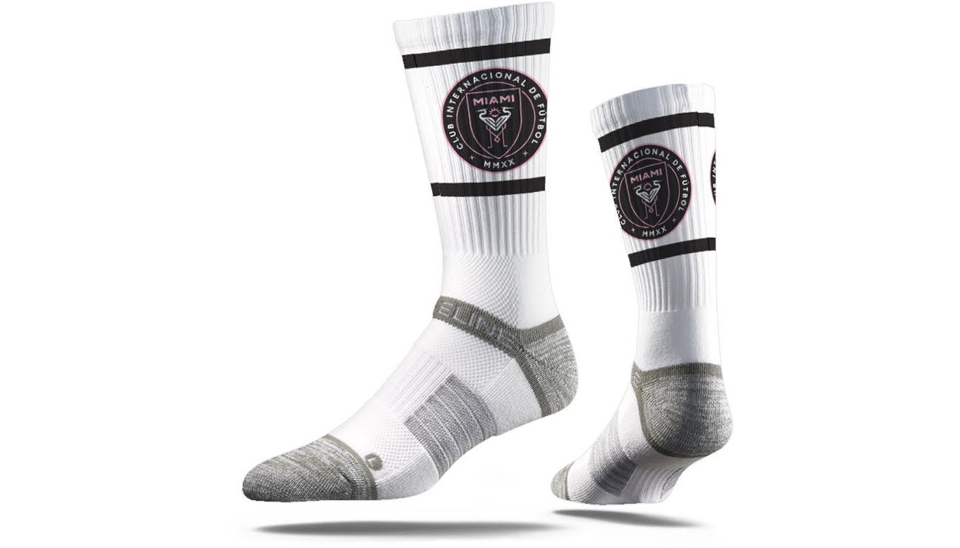 Strideline Inter Miami CF White Crew Socks