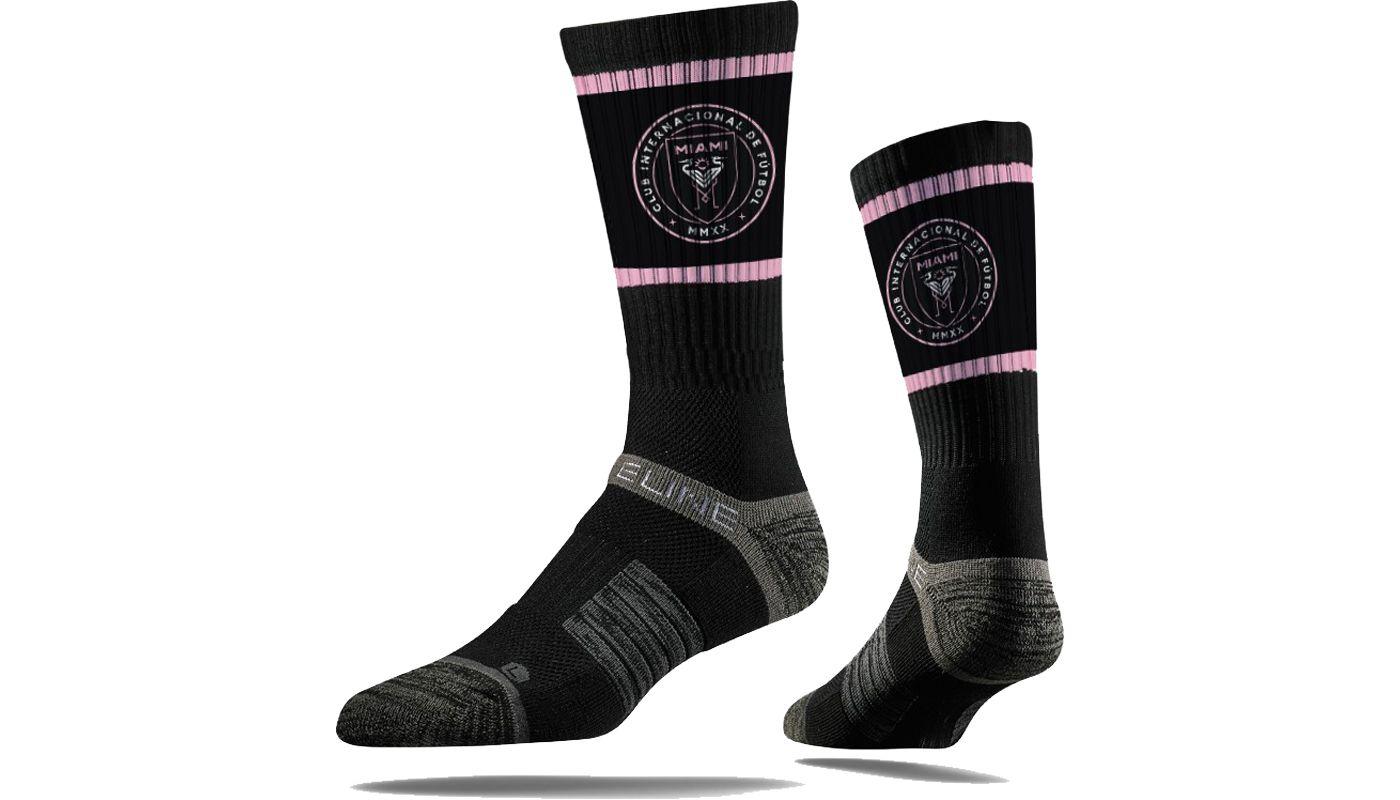 Strideline Inter Miami CF Full Sub Black Crew Socks