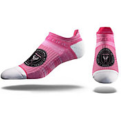 Strideline Inter Miami CF No Show Pink Crew Socks