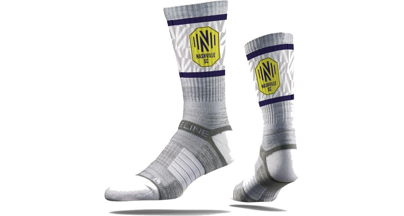 Strideline Nashville Soccer Club Gray Crew Socks