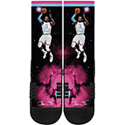 Strideline Miami Heat Dwayne Wade Black City Crew Socks