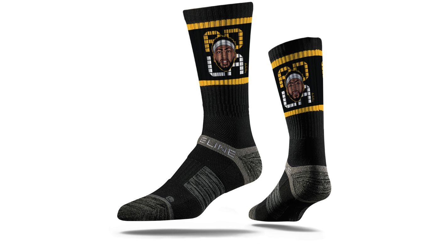 Strideline Los Angeles Lakers Anthony Davis Black Crew Socks