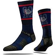 Strideline Gonzaga Bulldogs Gray Striped Socks