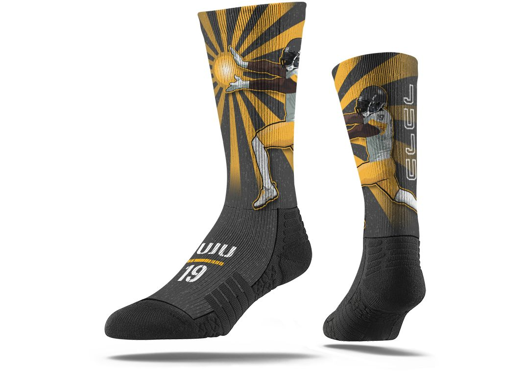 competitive price fc852 9d4f9 Strideline Pittsburgh Steelers JuJu Smith-Schuster Crew Socks
