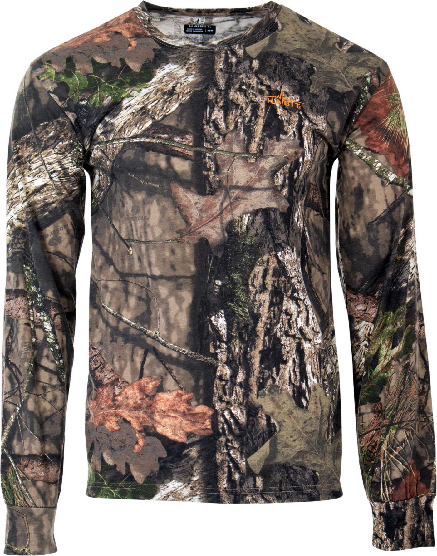 Habit Men's Bear Cave Camo Long Sleeve Hunting T-Shirt
