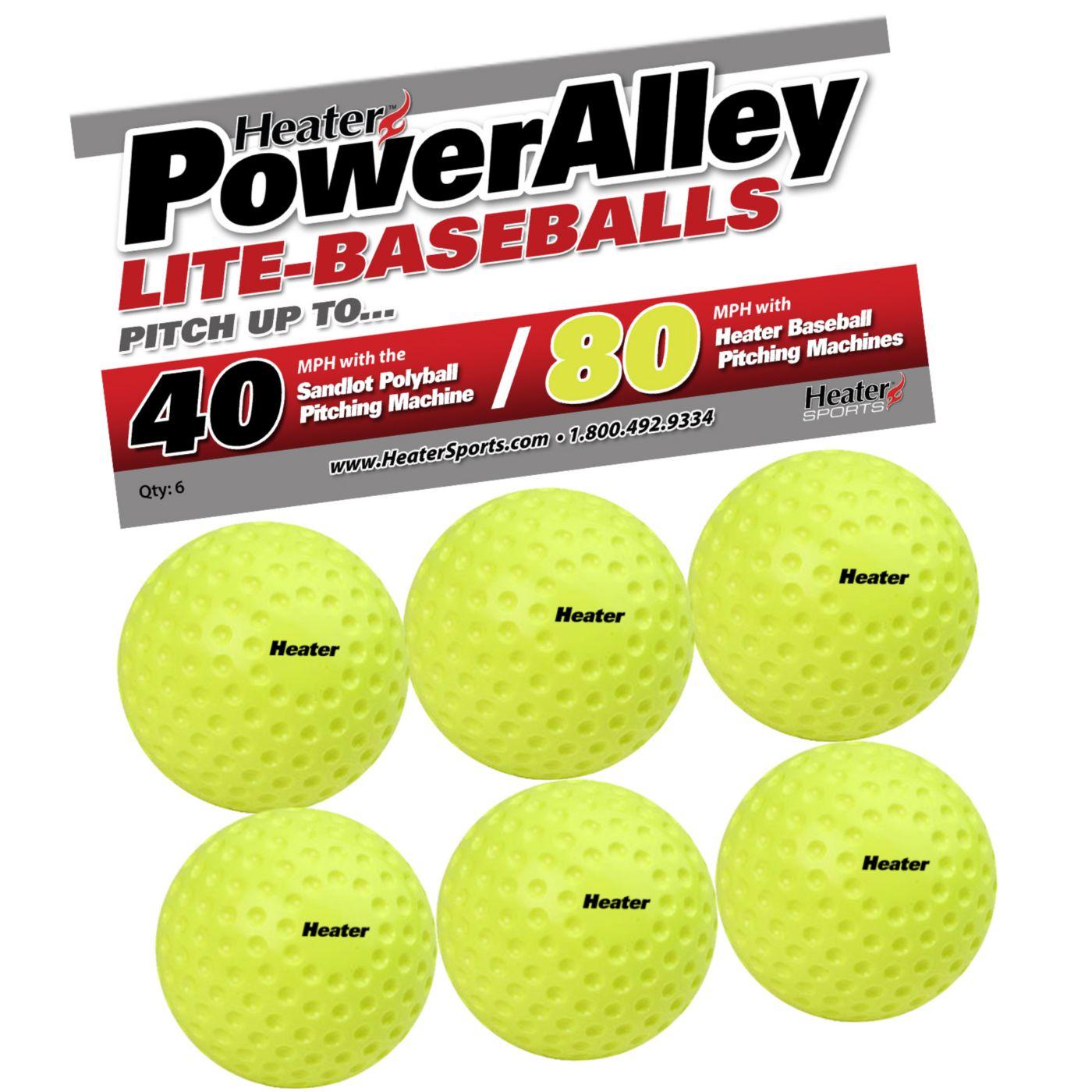 Heater PowerAlley 80 MPH Lite-Balls - 6 Pack