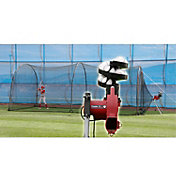 Heater Junior Baseball Pitching Machine & Xtender 24' Batting Cage