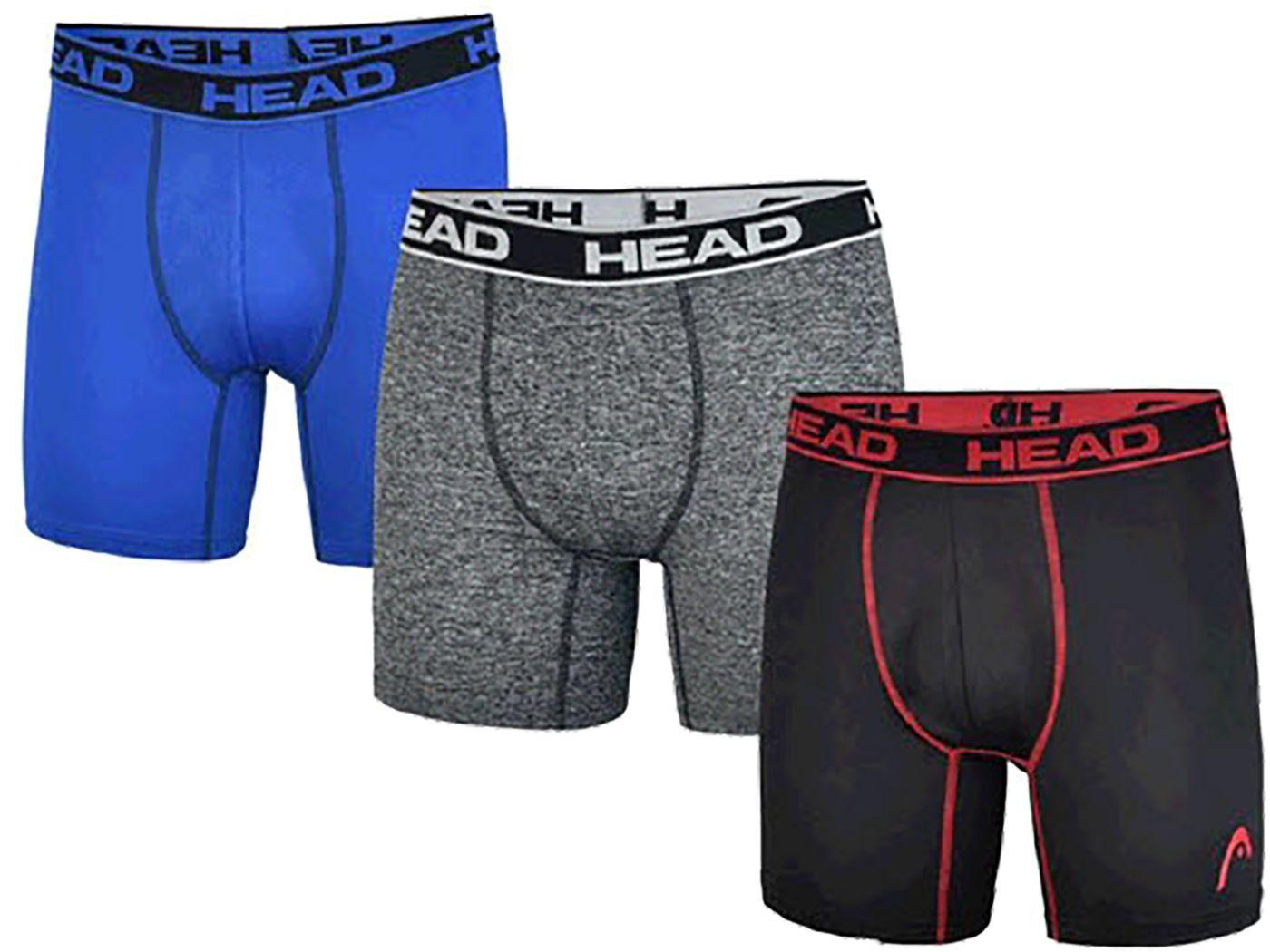 HEAD Men's Performance Boxer Briefs – 3 Pack