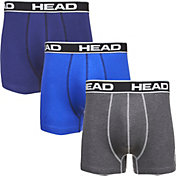 HEAD Men's Athletic Fit Boxer Briefs – 3 Pack