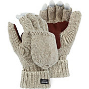North Star Fur Men's Rag Wool Flip Top Mittens