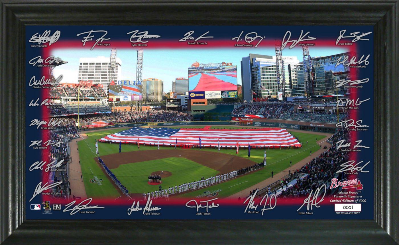 Highland Mint Atlanta Braves Signature Field Photo Frame
