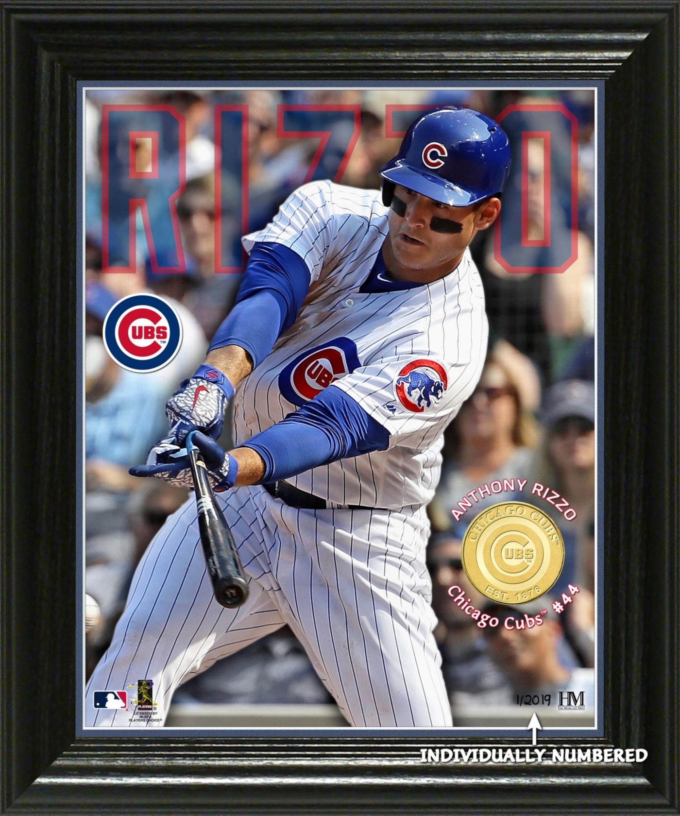 Highland Mint Chicago Cubs Anthony Rizzo Minted Coin Photo Mint