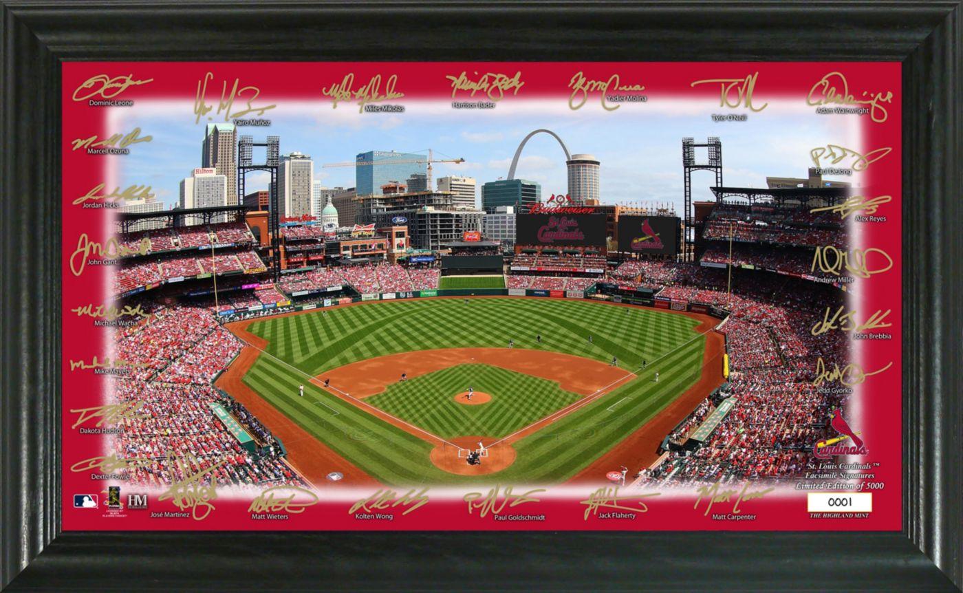 Highland Mint St. Louis Cardinals Signature Field Photo Frame
