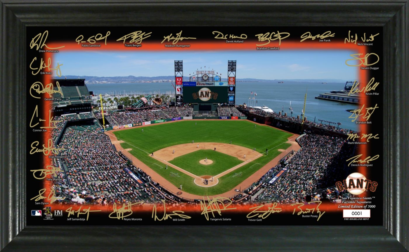 Highland Mint San Francisco Giants Signature Field Photo Frame