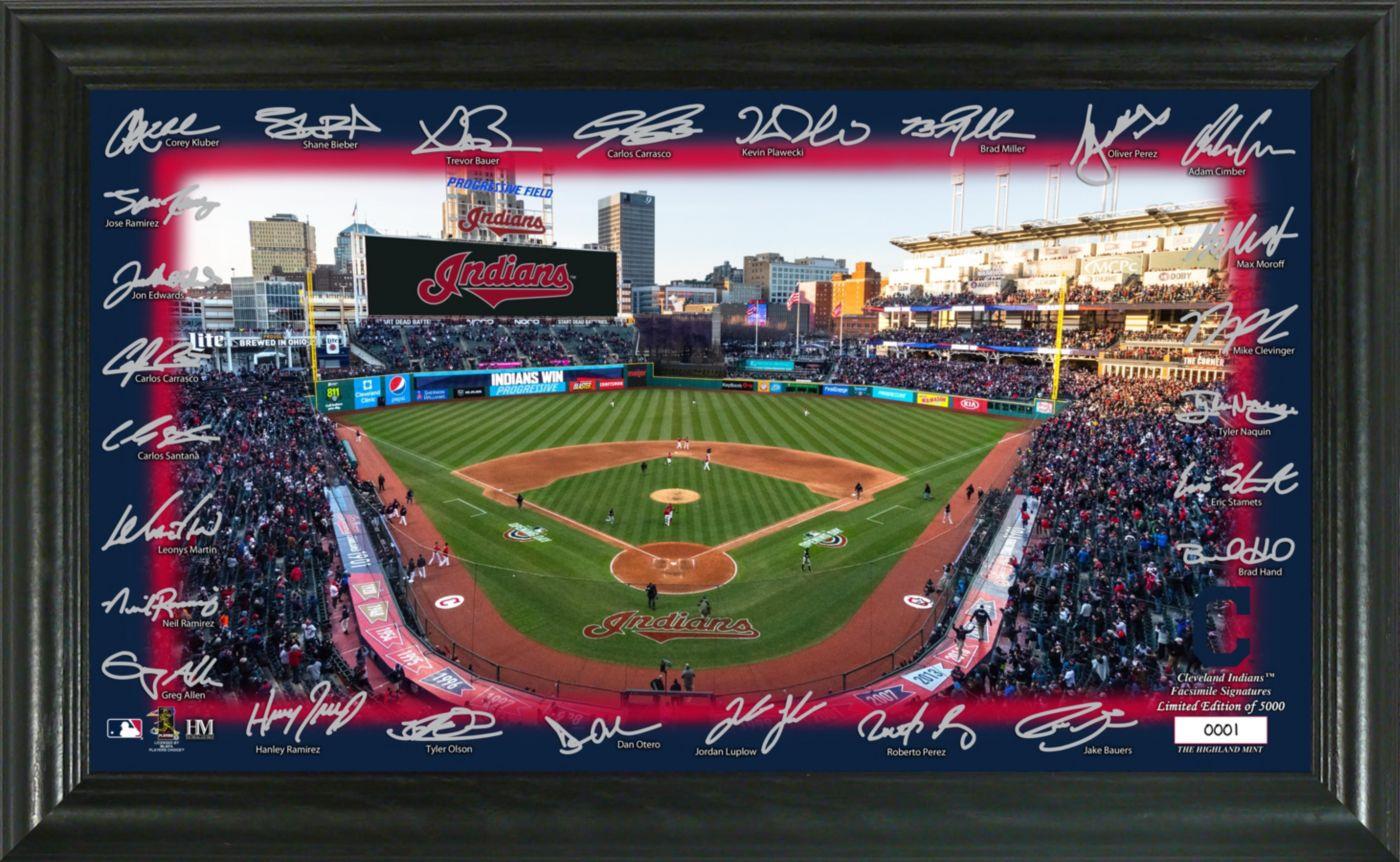 Highland Mint Cleveland Indians Signature Field Photo Frame